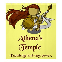 Athena s Temple Shower Curtain 66  x 72  (Large)