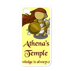 Athena s Temple Apple iPhone 4 Case (White)