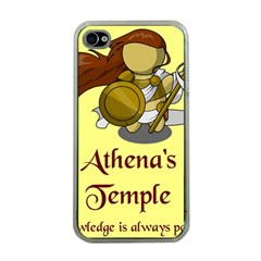 Athena s Temple Apple iPhone 4 Case (Clear)