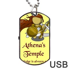 Athena s Temple Dog Tag USB Flash (Two Sides)