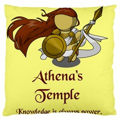 Athena s Temple Large Flano Cushion Case (Two Sides)