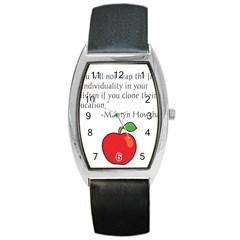 Fruit of Education Barrel Style Metal Watch