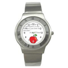 Fruit of Education Stainless Steel Watch