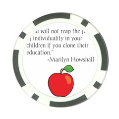 Fruit of Education Poker Chip Card Guard