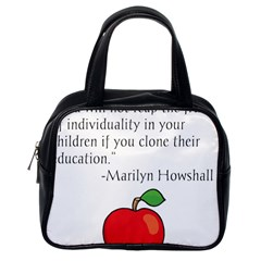 Fruit of Education Classic Handbags (One Side)