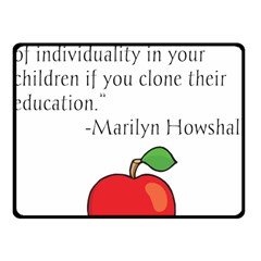 Fruit of Education Fleece Blanket (Small)