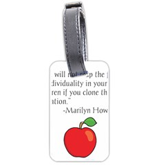 Fruit of Education Luggage Tags (Two Sides)