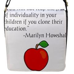 Fruit of Education Flap Messenger Bag (S)