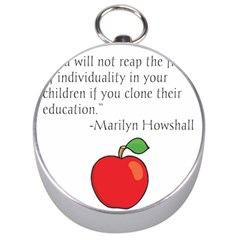 Fruit of Education Silver Compasses