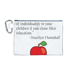 Fruit of Education Canvas Cosmetic Bag (M)