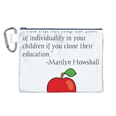 Fruit of Education Canvas Cosmetic Bag (L)