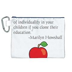 Fruit of Education Canvas Cosmetic Bag (XL)