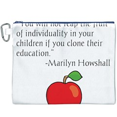 Fruit of Education Canvas Cosmetic Bag (XXXL)