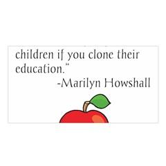 Fruit of Education Satin Shawl