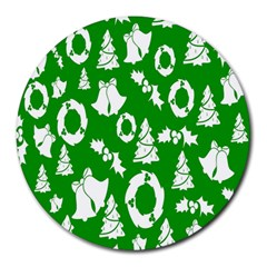 Backdrop Background Card Christmas Round Mousepads