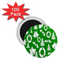 Backdrop Background Card Christmas 1.75  Magnets (100 pack)