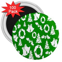Backdrop Background Card Christmas 3  Magnets (100 pack)
