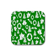 Backdrop Background Card Christmas Rubber Coaster (Square)