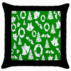 Backdrop Background Card Christmas Throw Pillow Case (Black)