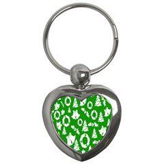 Backdrop Background Card Christmas Key Chains (Heart)