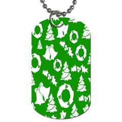 Backdrop Background Card Christmas Dog Tag (One Side)