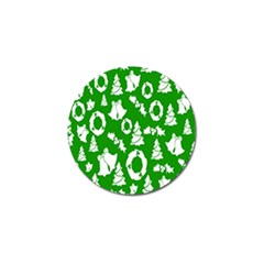 Backdrop Background Card Christmas Golf Ball Marker (4 pack)