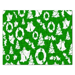 Backdrop Background Card Christmas Rectangular Jigsaw Puzzl