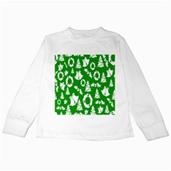 Backdrop Background Card Christmas Kids Long Sleeve T-Shirts