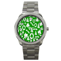 Backdrop Background Card Christmas Sport Metal Watch