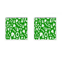 Backdrop Background Card Christmas Cufflinks (Square)