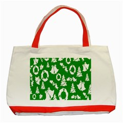 Backdrop Background Card Christmas Classic Tote Bag (Red)