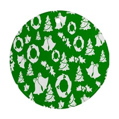 Backdrop Background Card Christmas Round Ornament (two Sides)
