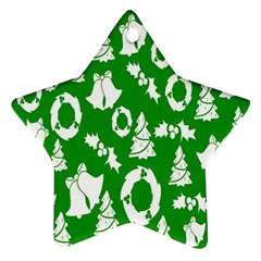 Backdrop Background Card Christmas Star Ornament (Two Sides)
