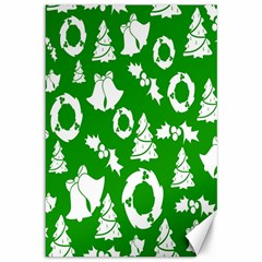Backdrop Background Card Christmas Canvas 12  x 18