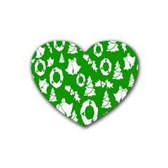 Backdrop Background Card Christmas Heart Coaster (4 pack)