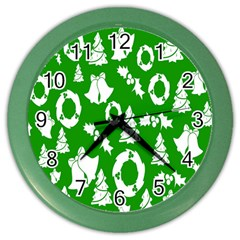 Backdrop Background Card Christmas Color Wall Clocks
