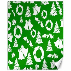 Backdrop Background Card Christmas Canvas 11  x 14