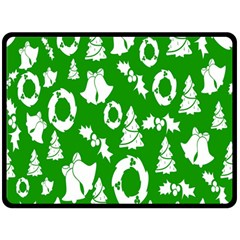 Backdrop Background Card Christmas Fleece Blanket (Large)