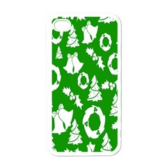 Backdrop Background Card Christmas Apple iPhone 4 Case (White)