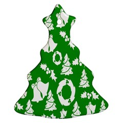 Backdrop Background Card Christmas Christmas Tree Ornament (Two Sides)