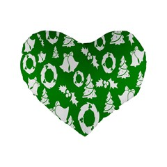 Backdrop Background Card Christmas Standard 16  Premium Heart Shape Cushions