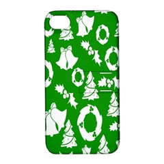Backdrop Background Card Christmas Apple iPhone 4/4S Hardshell Case with Stand