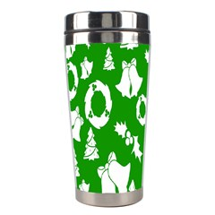 Backdrop Background Card Christmas Stainless Steel Travel Tumblers