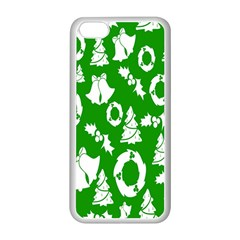 Backdrop Background Card Christmas Apple iPhone 5C Seamless Case (White)