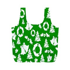 Backdrop Background Card Christmas Full Print Recycle Bags (M)