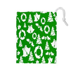 Backdrop Background Card Christmas Drawstring Pouches (Large)