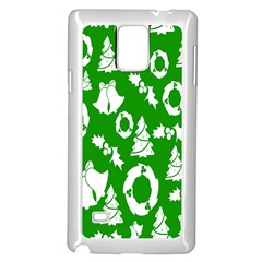 Backdrop Background Card Christmas Samsung Galaxy Note 4 Case (White)