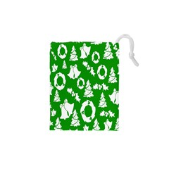 Backdrop Background Card Christmas Drawstring Pouches (XS)