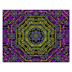 Wonderful Peace Flower Mandala Rectangular Jigsaw Puzzl