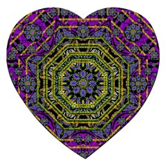 Wonderful Peace Flower Mandala Jigsaw Puzzle (Heart)